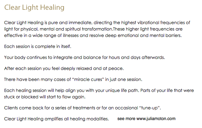 Wat is Clear Light Healing